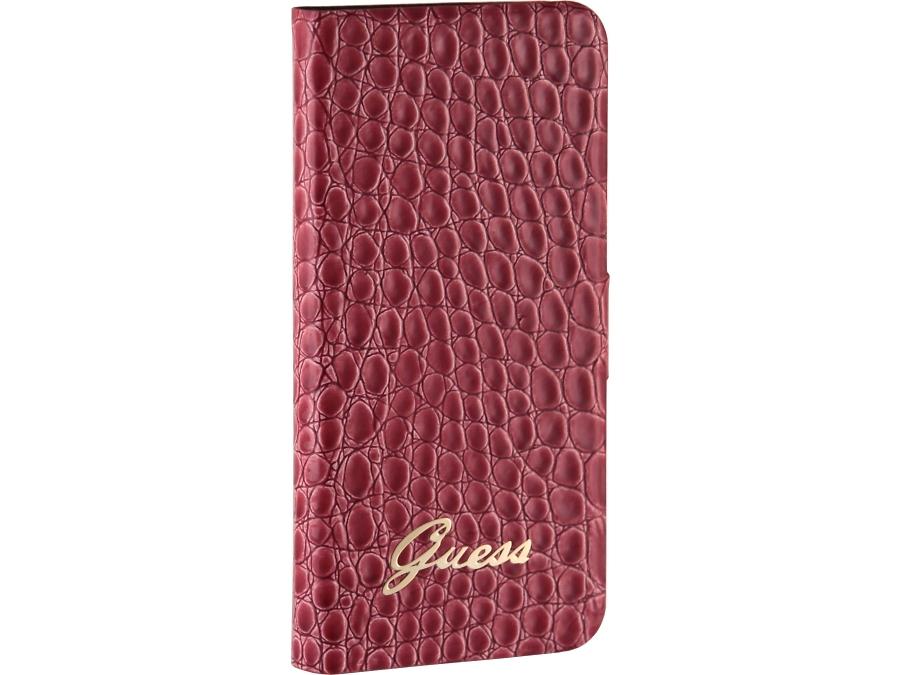 Чехол-книжка Guess Booktype Case для Apple iPhone5, кожа / пластик, красный