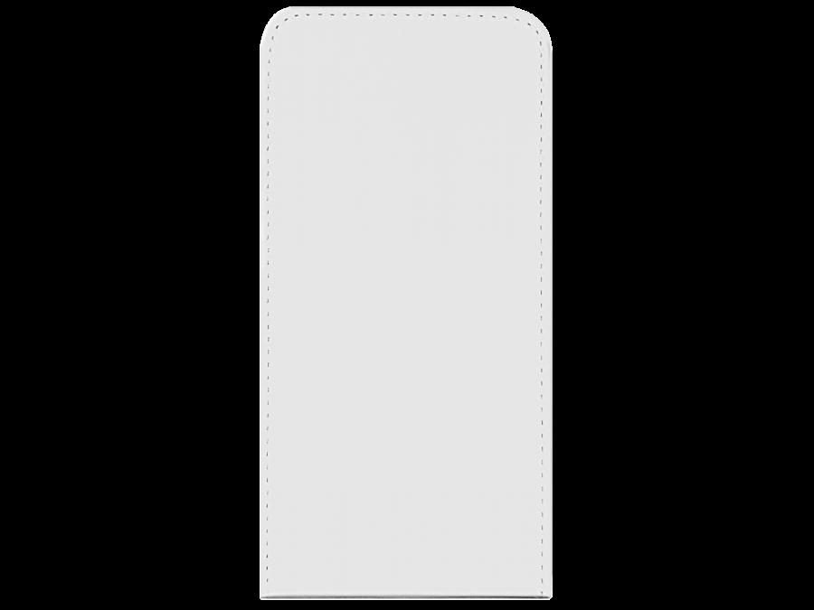 Чехол-книжка OxyFashion вертикальный для Apple iPhone 6, кожзам, белый (на присоске)