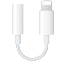 Адаптер Apple Lightning to Headphone Jack MMX62ZM/A (белый)