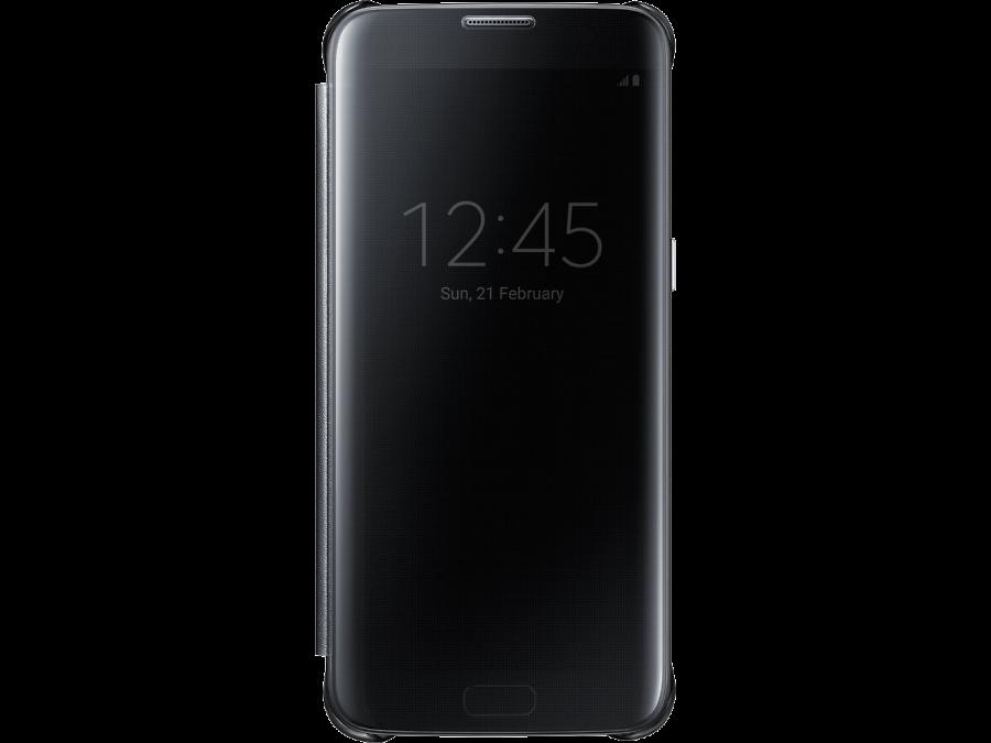 Чехол-книжка Samsung для Samsung Galaxy S7 Edge, полиуретан, черный