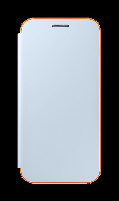 Чехол-книжка Samsung для Samsung Galaxy A3 (2017), полиуретан, голубой