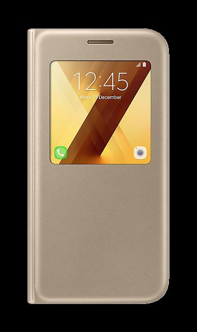 Чехол-книжка Samsung для Samsung Galaxy A5 (2017), полиуретан, золотистый