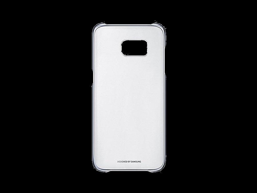 Чехол-крышка Samsung Clear Cover для Galaxy S7 Edge, поликарбонат, прозрачный (черная рамка)