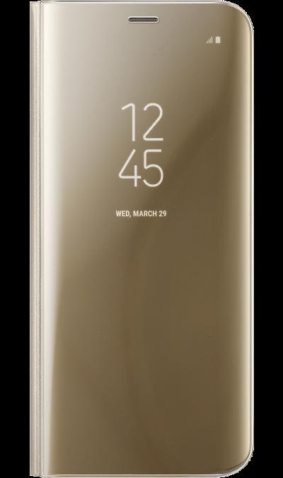 Чехол-книжка Samsung для Galaxy S8 Plus, полиуретан, золотистый